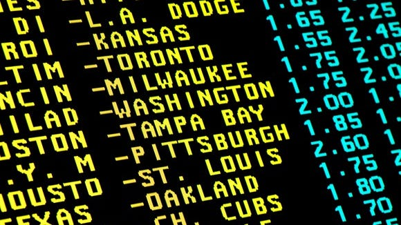 Odds at a sportsbook.