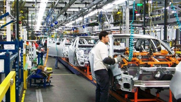 GM's Lordstown Complex, in Ohio, manufactures the compact Chevrolet Cruze sedan. It's one of five North American factories set to be idled next year, GM said on Monday.