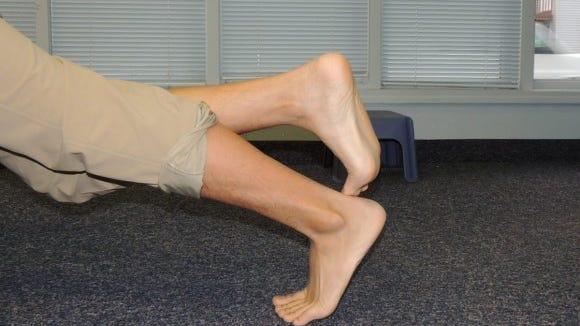 rocking ankle mobilization (start position)