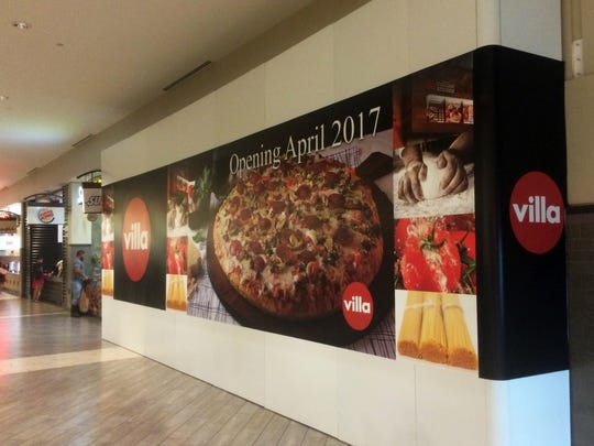 Villa Pizza plans an April opening in the former space of Sbarro, which closed last month in Coastland Center mall's food court after operating there for at least 20 years.