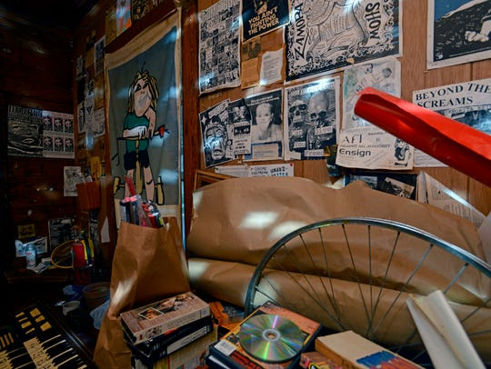 """The walls of the so-called """"punk house"""" at 309 N. Sixth"""