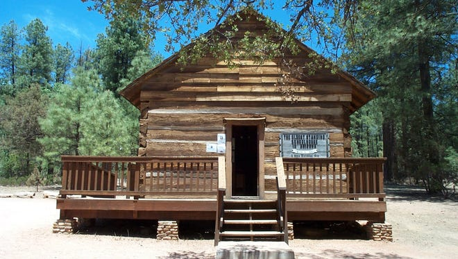 File photo from 2009. Strawberry Schoolhouse is the oldest standing schoolhouse in Arizona and has been restored by the Pine-Strawberry Historical Society. Credit: Ed Toliver.
