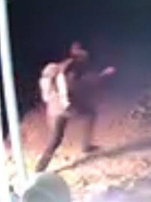 Surveillance video shows a young male fleeing the scene of a suspected arson, Gloucester Township police say.