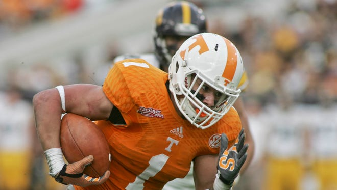 Vols running back Jalen Hurd has added about 15 pounds since last season.