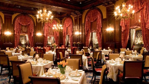 The Hotel du Pont's Green Room has received a four-diamond rating from AAA for the past 30 years.