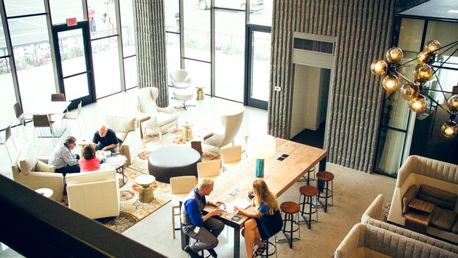 The interior of Mod, a new meeting and workspace in midtown Phoenix.