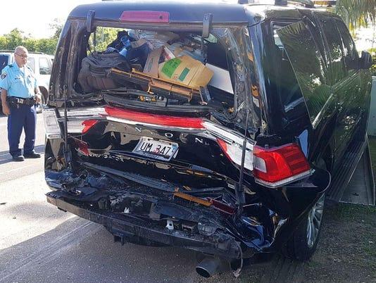 Lt. Gov.'s Lincoln Navigator in crash