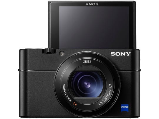 The front of the Sony RX100 V.