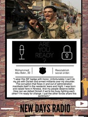 This is an example of messaging aimed at countering Islamic State group propaganda. It was created by media psychology faculty and students at Fielding Graduate University in Santa Barbara in conjunction with the U.S. Department of Defense.