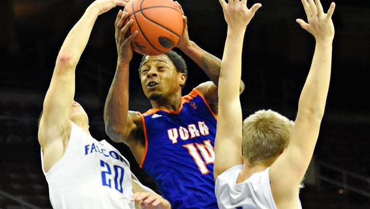 BOYS' BASKETBALL: Jaser Drayden powers York High to overtime triumph over Dallastown