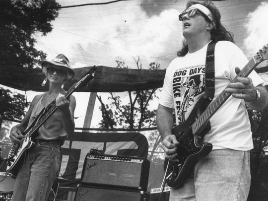 Ann Southhall and Miles McMillan perform during the 1993 Fiesta del Concho.