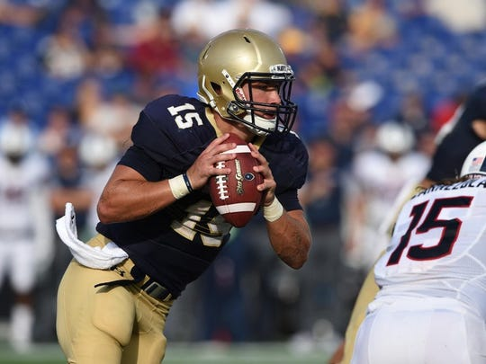 Navy quarterback Will Worth is among those who have been inspired by Joel Stephens.