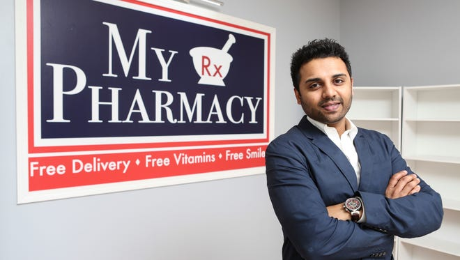 Nimish Patel is the one behind the new My Pharmacy and Bora coffee shop under construction at 6470 N. Preston Highway.