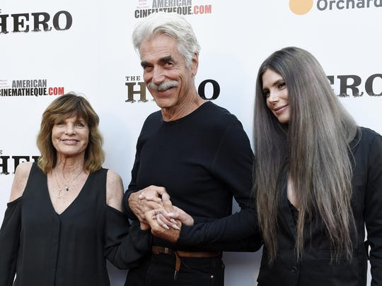 Katharine Ross, left, with husband Elliott and their