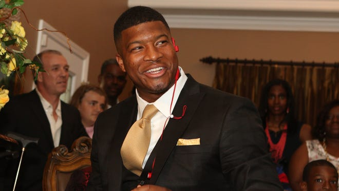 Jameis Winston of Florida State is selected as the No.1 pick of the Tampa Bay Buccaneers  in the 2015 NFL draft.