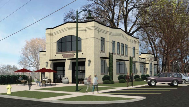 This rendering depicts what the former east-side fire hall will look like once Stone Group Architects moves in.