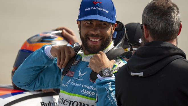 "Bubba Wallace said he's humbled and excited to ""begin this adventure"" as a driver for a Toyota team owned by NBA Hall of Famer Michael Jordan and fellow driver Denny Hamlin for the 2021 season."