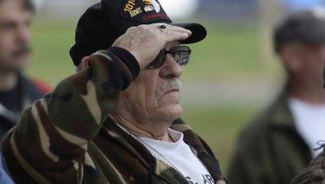 Let's all salute our veterans Nov. 11.