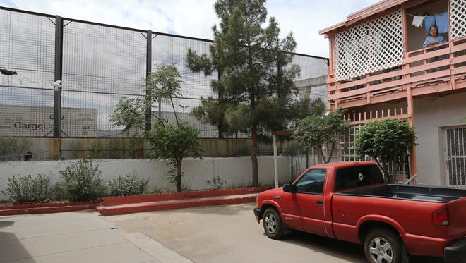 The present border fence runs past the Chihuahuita neighborhood.