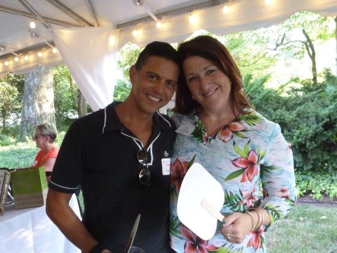 Celebrity bartenders Rene Yanes and Erin Donovan were making custom cocktails for attendees at Positively Living's Summer Swing.