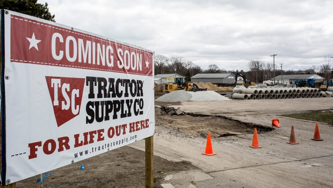 A new Tractor Supply Company is being constructed Tuesday, April 12, 2016 at 4802 24th Ave. in Fort Gratiot.