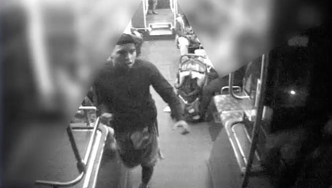 Photo taken from a video showing an assault on a Phoenix bus driver in February.