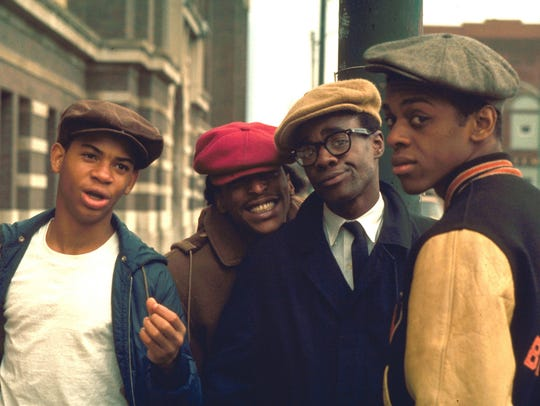 """The too-cool cast of """"Cooley High"""" (from left: Corin"""