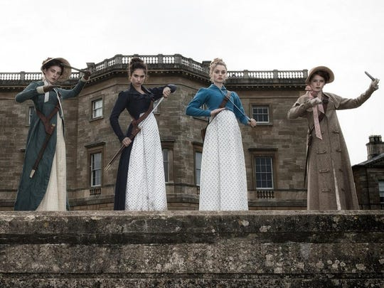 "Proper British ladies prepare to fight the undead in ""Pride and Prejudice and Zombies."""