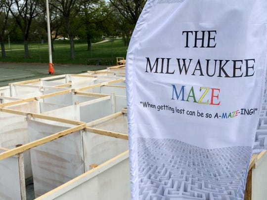 The 10,000 square-foot Milwaukee Maze has opened in West Allis' McCarty Park.