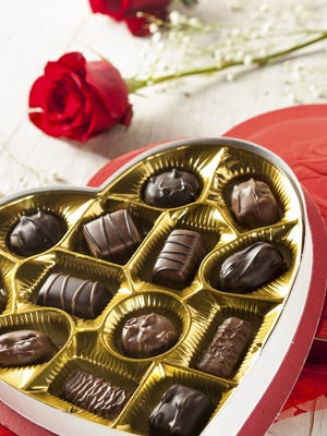 Getty Images/iStockphoto Sunday marks one of the biggest chocolate-eating days of the year. Box of Gourmet Chocolates for Valentine's Day
