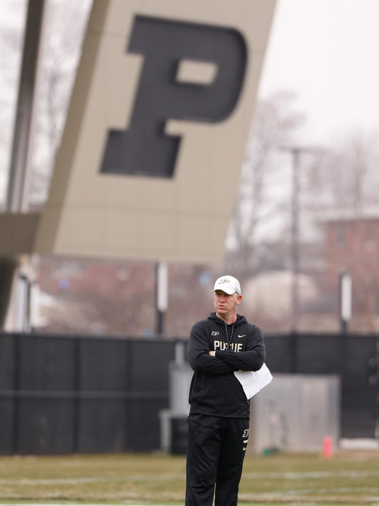 LAF Purdue spring football practice day 10
