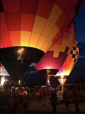 This is a photo of last year's Glow at the Macomb Balloon Rally. This year's Rally will be held, but altered due to COVID-19.