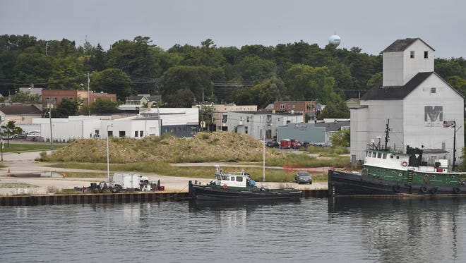 View of the embattled waterfront property along the Sturgeon Bay Canal on the city's west side on Aug. 6, 2017.