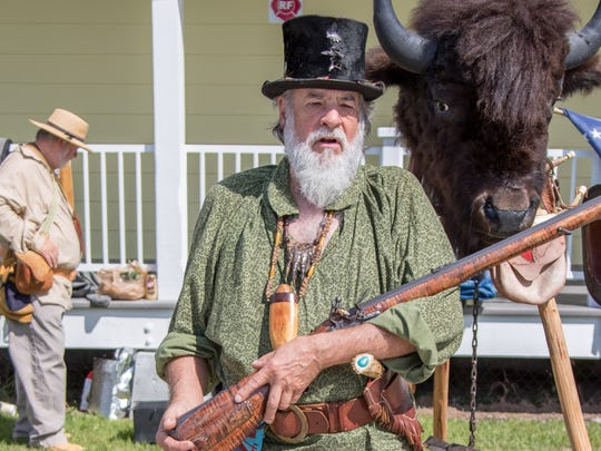 Wayne Garber demonstrated muzzle-loading at last year's Pioneer Day.