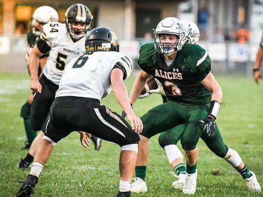 Vincennes Lincoln's Spencer Corrona looks to provide