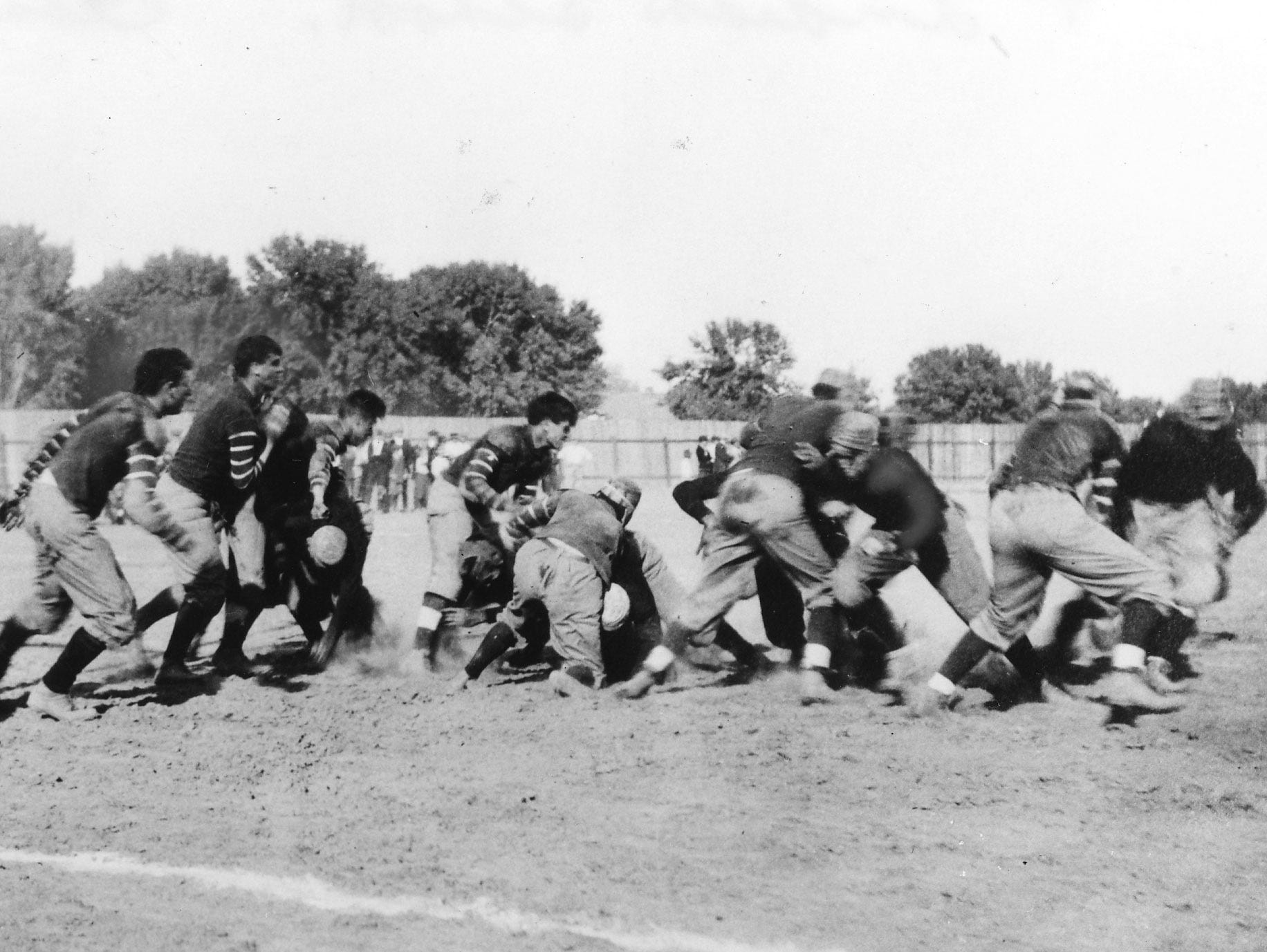 Phoenix Union High School vs Phoenix Indian School in 1914.
