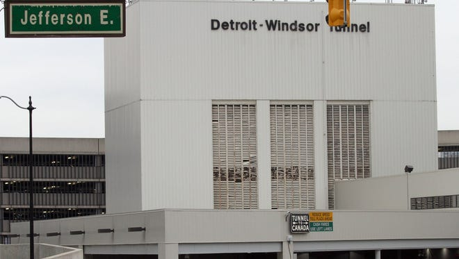 The Detroit-Windsor Tunnel.