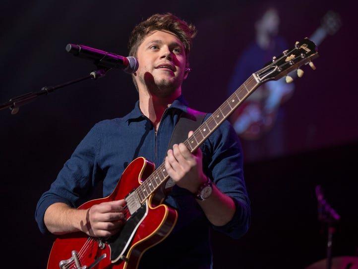 Niall Horan performs during the annual WZPL Birthday