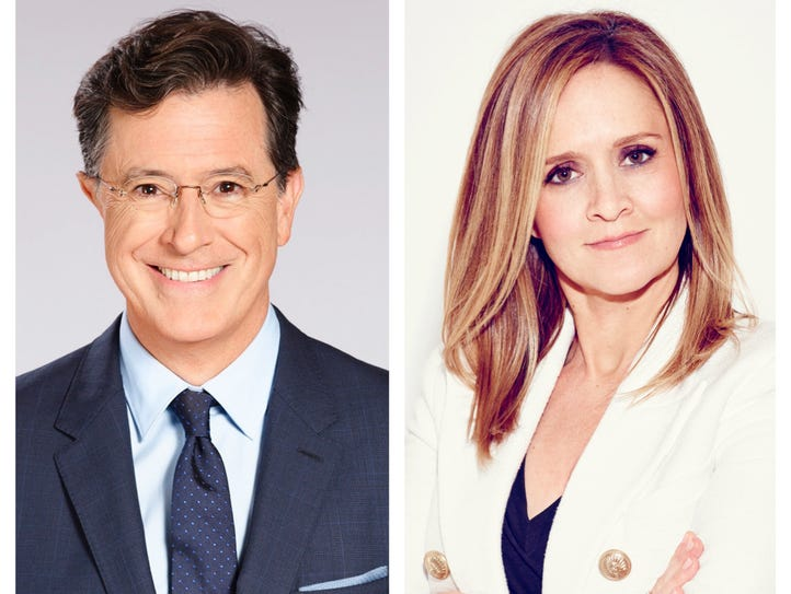 """SAD! A Happy Evening with Stephen Colbert and Samantha"