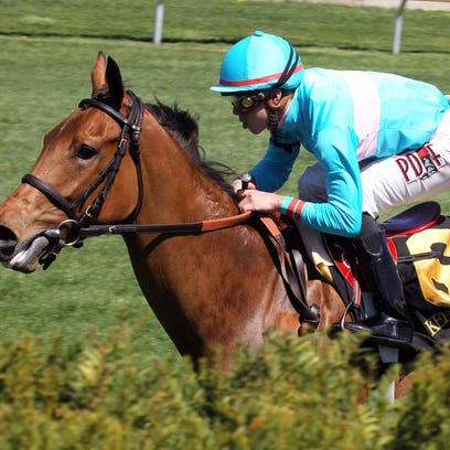 Lady Eli, under Irad Ortiz Jr., won Saturday's Appalachian