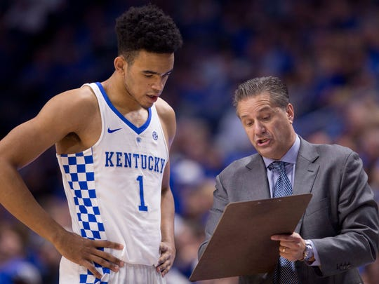 """He's [Sacha Killeya-Jones, left] a little bit behind, but I've had some individual meetings with him, talked to him,"" Kentucky head coach John Calipari said in February, according to SEC Country. ""He said, 'I understood coming here that this was going to be hard, so I've got to work through it.'"""