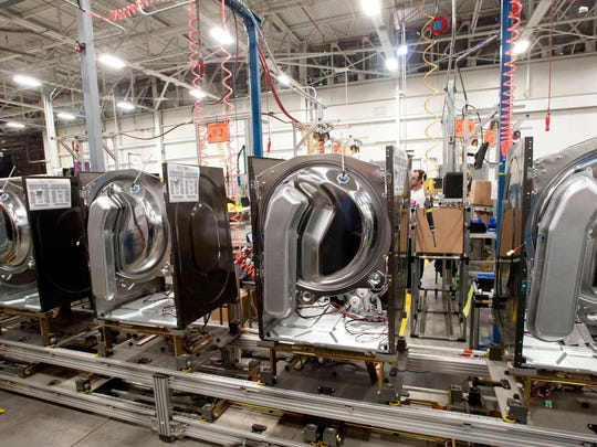 GE dryers on an assembly line in 2013.