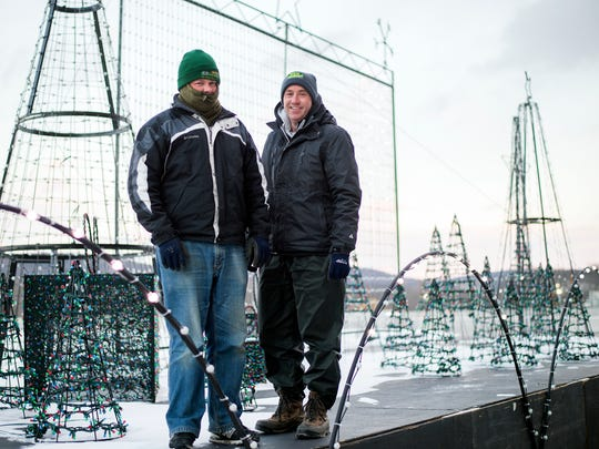 W&W Nursery owner Ken Williams, on right, with his