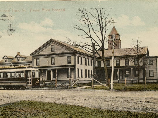 The old Dunbar Hotel in 1917. It later became the Fanny Allen Hospital.