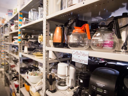 Kitchenware sits on the sales floor at Eco-Thrift in Fort Collins Friday, January 22, 2016. The local thrift store sells furniture, clothing and assorted items.
