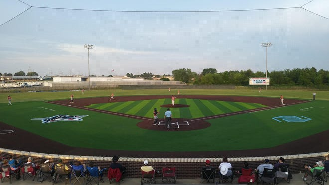 Fort Smith Sportsman takes on Three Rivers (Okla.) on Tuesday, June 2, 2020, at Forsgren Field, which recently installed a new turf infield surface.
