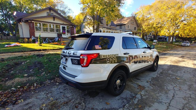 Rockford police investigate a homicide in the 2300 block of Parmele Street on Monday, Oct. 12, 2020.