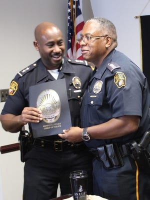 Chris Wingard with MPD Chief Ernest Finley