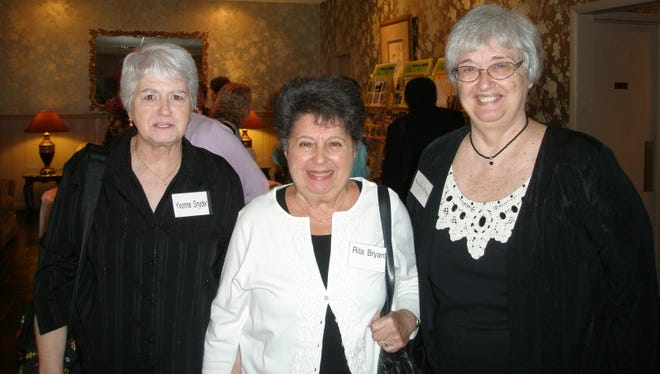 The annual Prudential Reunion luncheon was held recently at Buena Vista Country Club. About 145 former employees of Prudential's Sharp Street office in Millville gathered to reminisce with former co-workers. Pictured (from left): Yvonne Snyder of Williamstown, Rita Bryant of Millville and Mary Jane Billings of Millville.