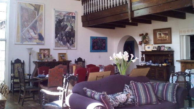 The interior of Lundeen Inn of the Arts, located in Las Cruces. The bed and breakfast features more than 300 pieces of art.
